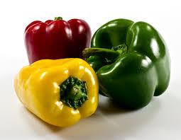 فلفل دلمه ای رنگین کمان سبزی های خوراکی